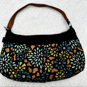 1154 LILL STUDIO Custom Floral Hobo Shoulder bag